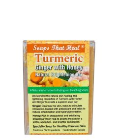 NATUREL SOAPS THAT HEAL [TURMERIC WITH GINGER & HONEY]